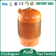 Orange color LOGO print small gas cylinder butane gas cooking LPG cylinder 5kg cylinders for Nigeria other africa country