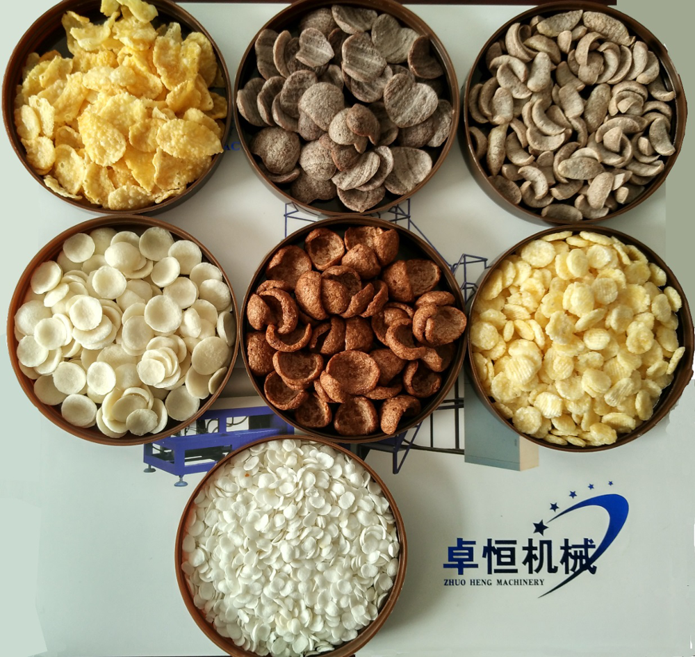 Automatic Cereal Breakfast Corn Flakes Production Line/corn Flakes Processing Machine