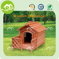 DH-05M easy assembly honey red wooden dog kennel,large wood dog house