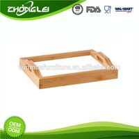 Custom Design Highest Level FSC Certificated Bamboo Lap Tray