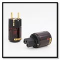 Factory made P-079E P079E Gold Plated EU Power Plug Connector+Power IEC Connector Plug Audio