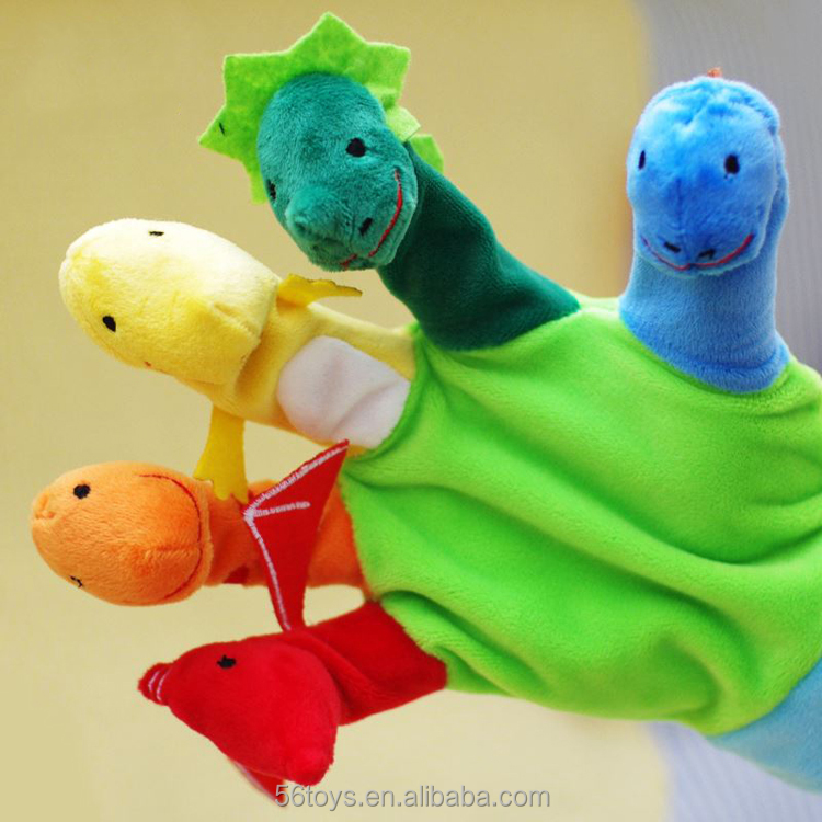 low moq factory direct sales fast delivery dinosaur hand puppet