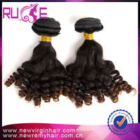 Promotion! 2015 hot fashion grade 7A mira curl high quality hair extension french curl hair extension