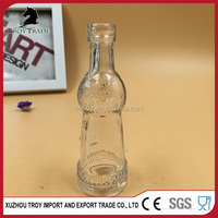 customize design clear glass liquid bottles with high quality
