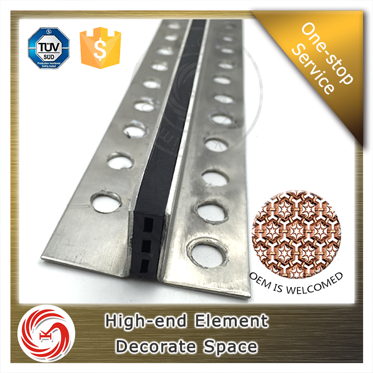 Fast Delivery plastic inserted ceramic stainless steel tile expansion joint