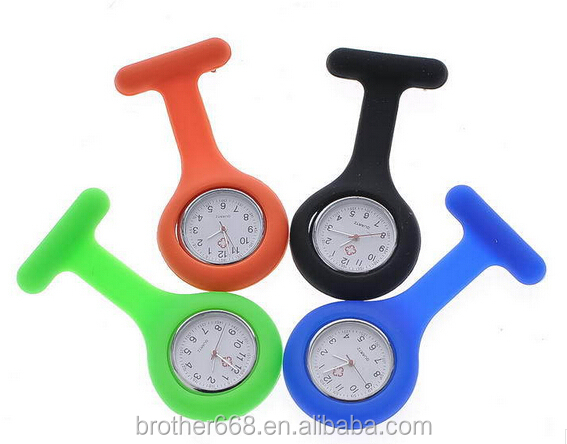 2017 wholesale promotion silicone nurse watch/doctor watch /pocket silicone watch