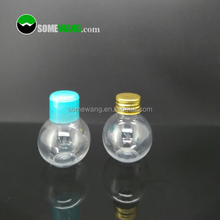 wholesale 60ml light bulb shape plastic cosmetic cream packaging bottle 2016