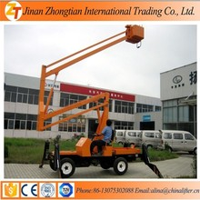 Articulated towable boom lift/truck mounted hydraulic lift platform