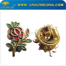 Fake die soft enaeml flower logo pin badge