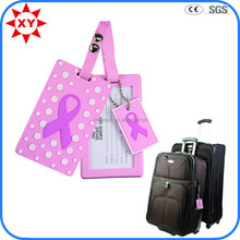 Custom cheap plastic wholesale luggage tags with pink logo