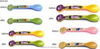 Factory Wholesale Manufacturer Promotional Gift Plastic Color Changing Spoon