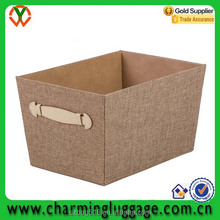 2016 open mouth home clothing sundry linen fabric storage box/bin wholesale