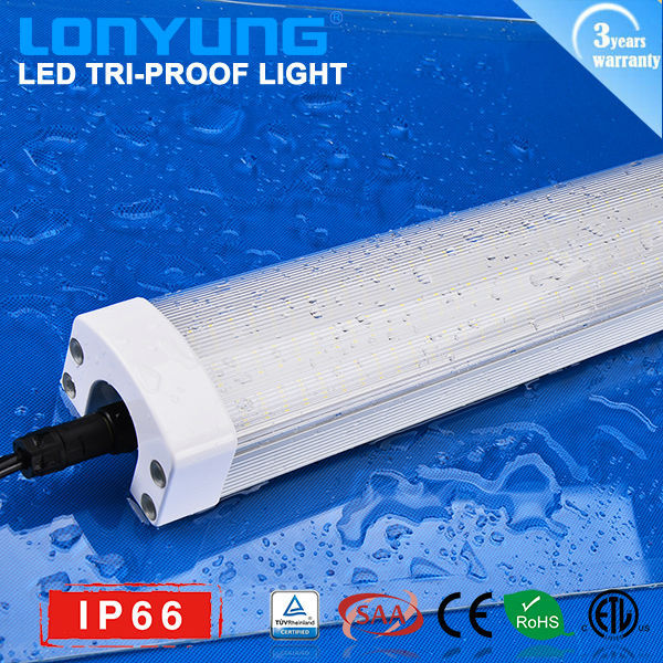 High brightness 1200m/4ft LED Tri-proof light China supplier IP66 TUY SAA ETL List 50w 60w China supplier led aquarium light