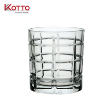 338ml Grid decorative rocks -wine -water glass /kotto glass cup