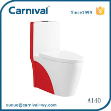 Bathroom ceramic color siphonic one-piece toilet A140