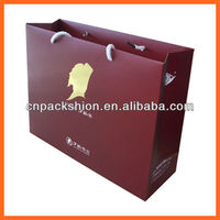 High Quality Red Paper Jewelry Packaging Bag with Handles