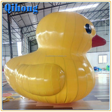 Funny giant airtight inflatable promotion duck, inflatable pool duck toy for sale