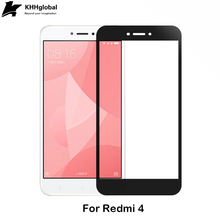 Great products for e-business 2.5D full coverage Silk Printed Tempered Glass Screen Protector for Xiaomi Redmi 4