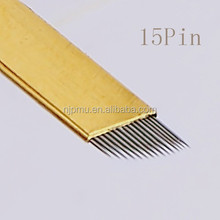 Gamma Ray Sterilized manual tattoo blade needles for 3D eyebrow embroidery