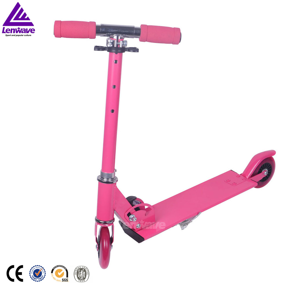 EN14619 folding 2 wheel pedal kick foot scooter