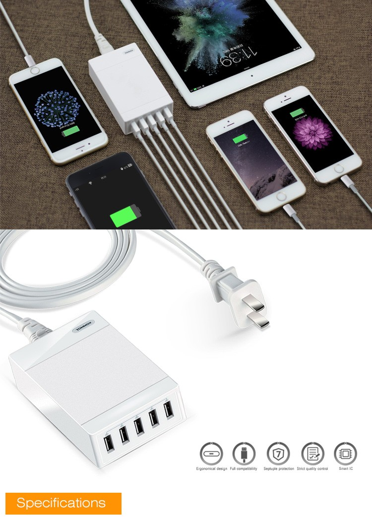 NEW Rock Portable travel USB charger for mobile phone