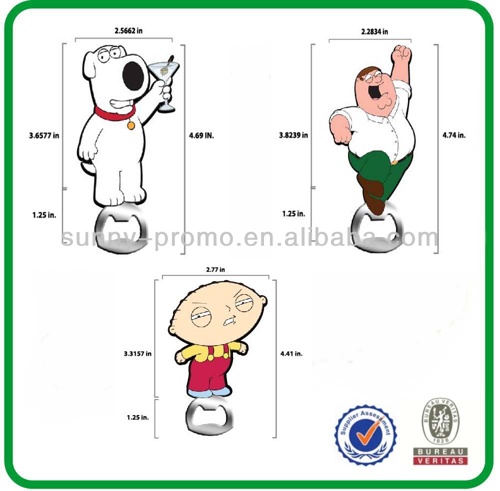 familiy guy rubber bottle openers for gifts