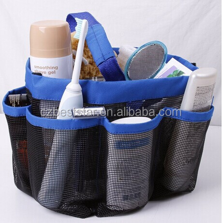 Shower Caddy - Oxford Pouch Shower Bag,Mesh Storage Carry -Quick Dry - Large Pockets To Carry Your Bathroom Accessories And Mirr