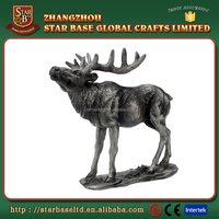 Wholesale pewter moose decor home accessories for decoration and furniture with high quality