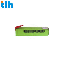 UN38.3 certified li ion 3.7V 18650 battery with solder tabs