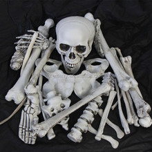 X-MERRY White Skull, Human Bones Plastic Decoration - Halloween Decoration