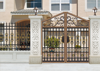 Metal material gate design/ Arched Gates metal gate/ Customized aluminum fence gate and black aluminum fence panel & aluminium f