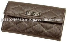C5COCO COW LEATHER ELEGANCE WALLET JAPAN PRODUCE brown