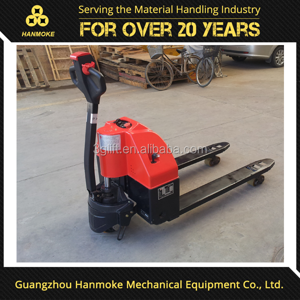Hydraulic pump 2 ton DC powered semi mini electric pallet truck