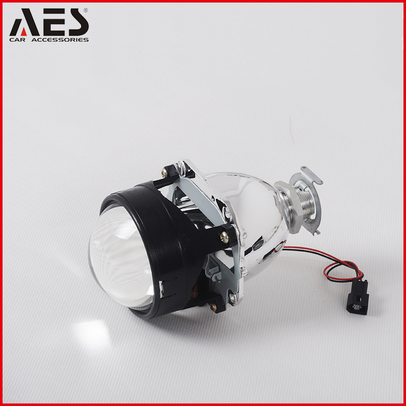 "AES top quality hid bi xenon mini 2.5"" size projector lens with H1 bulbs light"