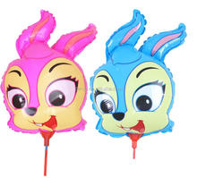 Cute Rabbit Head Animal Shaped Balloons