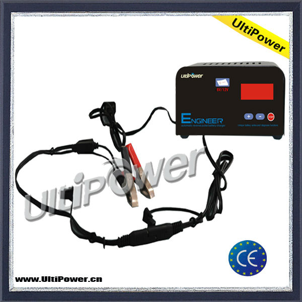 UltiPower 6V & 12V universal automatic battery charger with desulphation