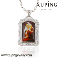 32552-xuping latest model fashion rhodium plated big simple goddess pendant designs