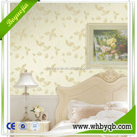 2014 high quality fast installation eco-friendly PVC 3d wallpaper with a pattern of bamboo