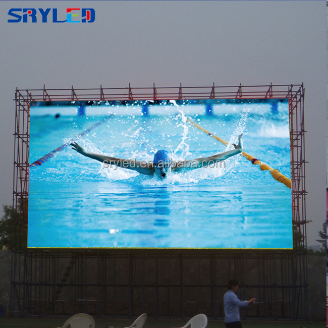 SRY P10 led display screens full color outdoor waterproof large stadium led display