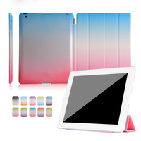 2018 Hot selling accessories rainbow stand flip leather smart cover tablet case for iPad mini 2 3 4 Air 2 Pro