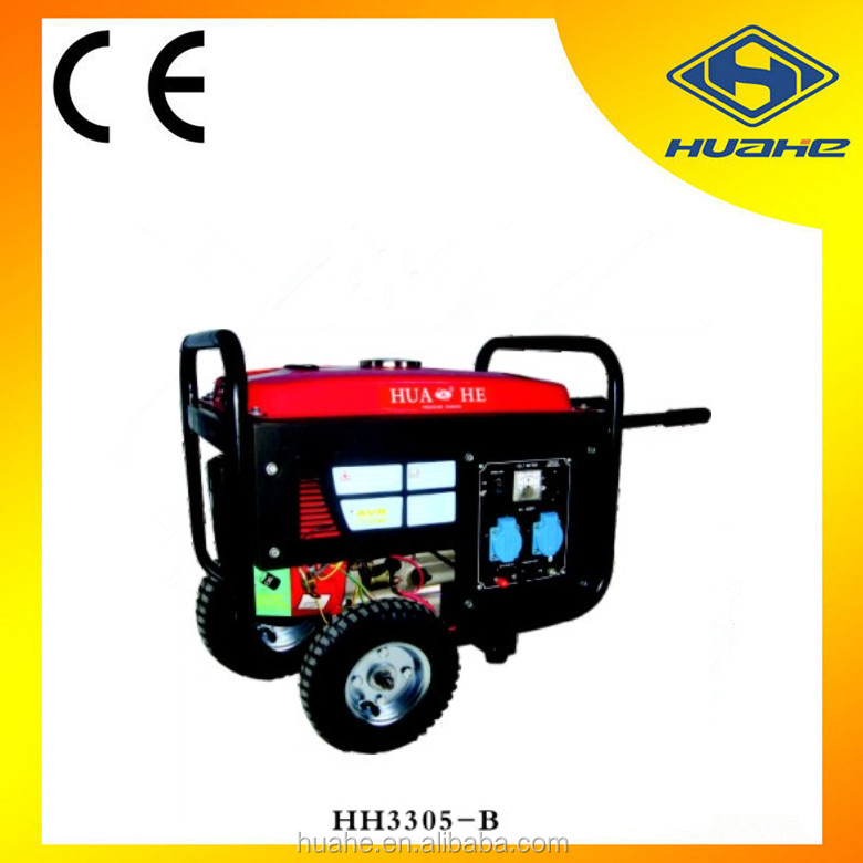 recoil/electric start gasoline generator 5.5hp ,2kw gasoline engine generator powered by professional Chinese manufacturer