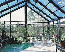 factory price tempered glass roof/glass roof price