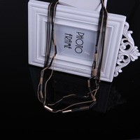 N1448 Free shipping Gold and gun black plated Mixed plating colors chians Thin Chain jewelry 2016 Layer long chain nekclace