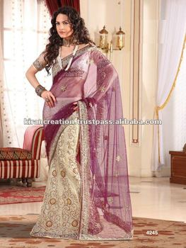 Ghagra Choli Double Color Latest Wedding Saree