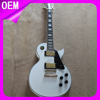 Fully Customized electric guitar factory, cheap custom guitar LP, white guitar