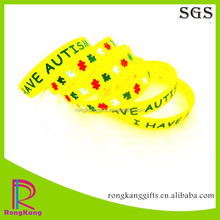 custom i have autism color filled silicone bracelet cheap item to sell