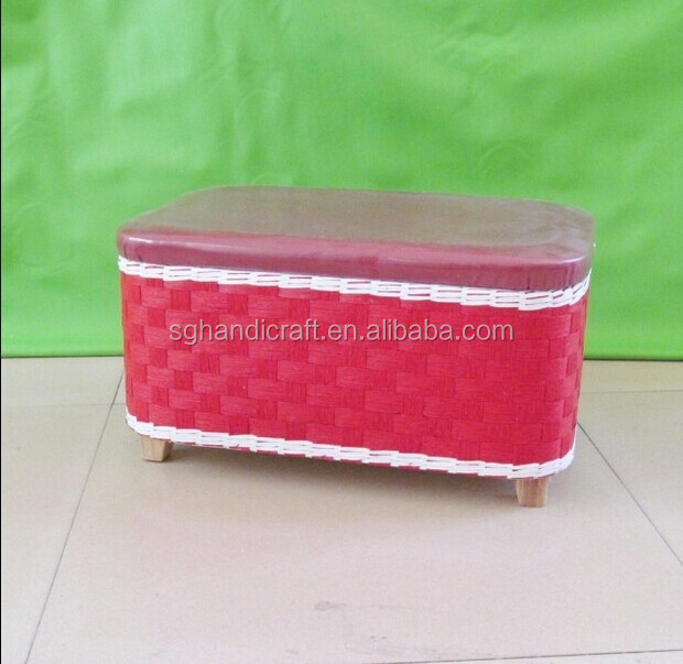 high quantity wooden frame paper trunk in red