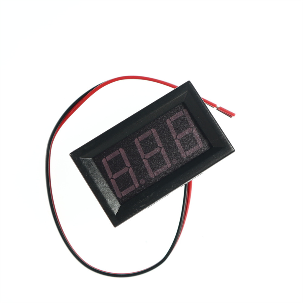 "Factory price KJ398 Red Green Blue 2 Wire 0.56 "" LED Mini Digital Voltmeter DC4.5-30V LED Voltage Panel meter"