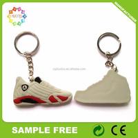 cheap wholesale jordan shoes keychain,3d air jordan sneaker shaped pvc keychain