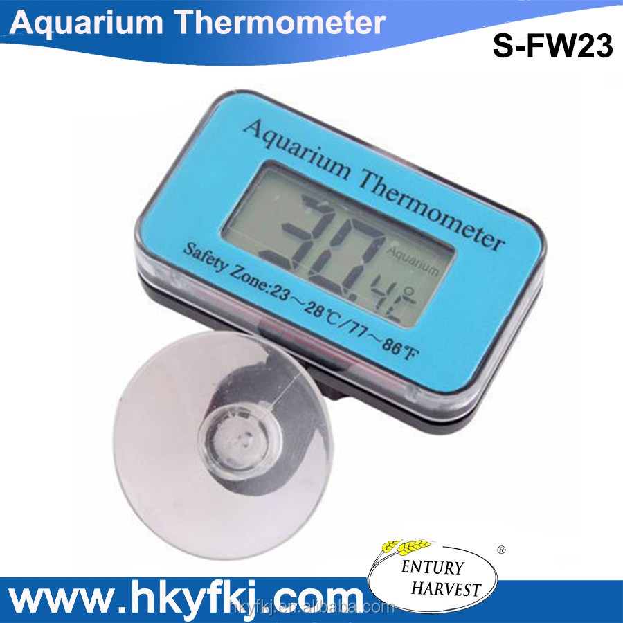 Mini aquarium lcd display digital thermometer fish tank water household refrigerator thermometers(S-FW23)